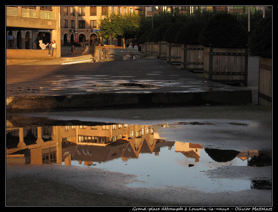 Louvain-la-neuve : grand-place, le 30 octobre 2010