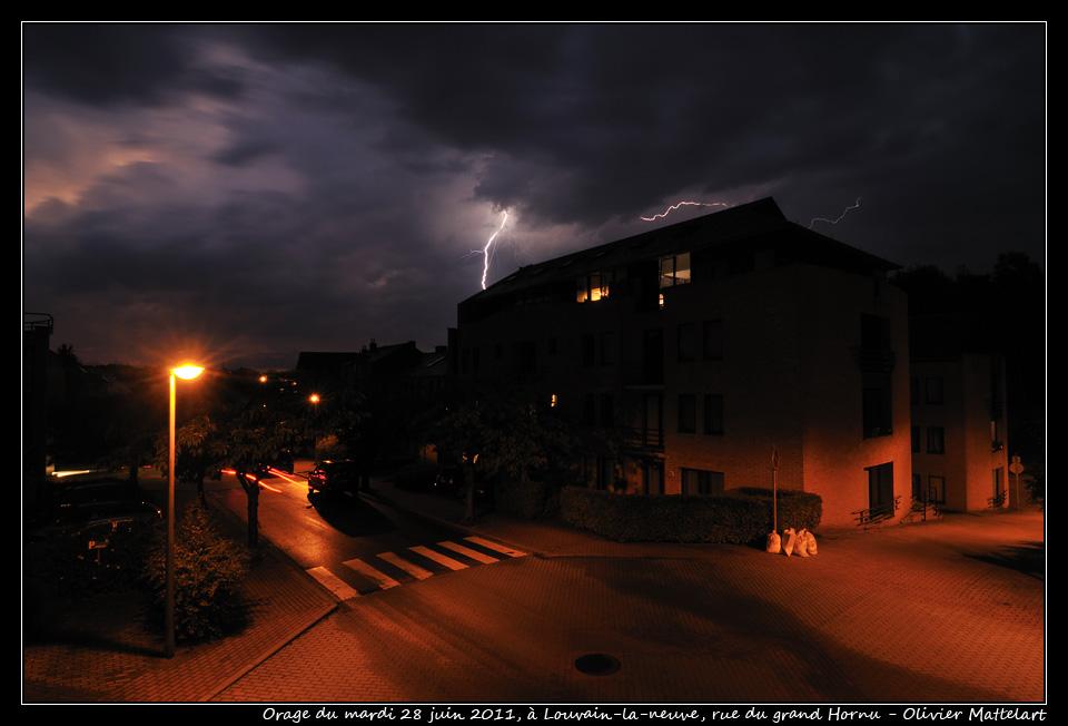 Louvain-la-neuve : orage du 28 juin 2011