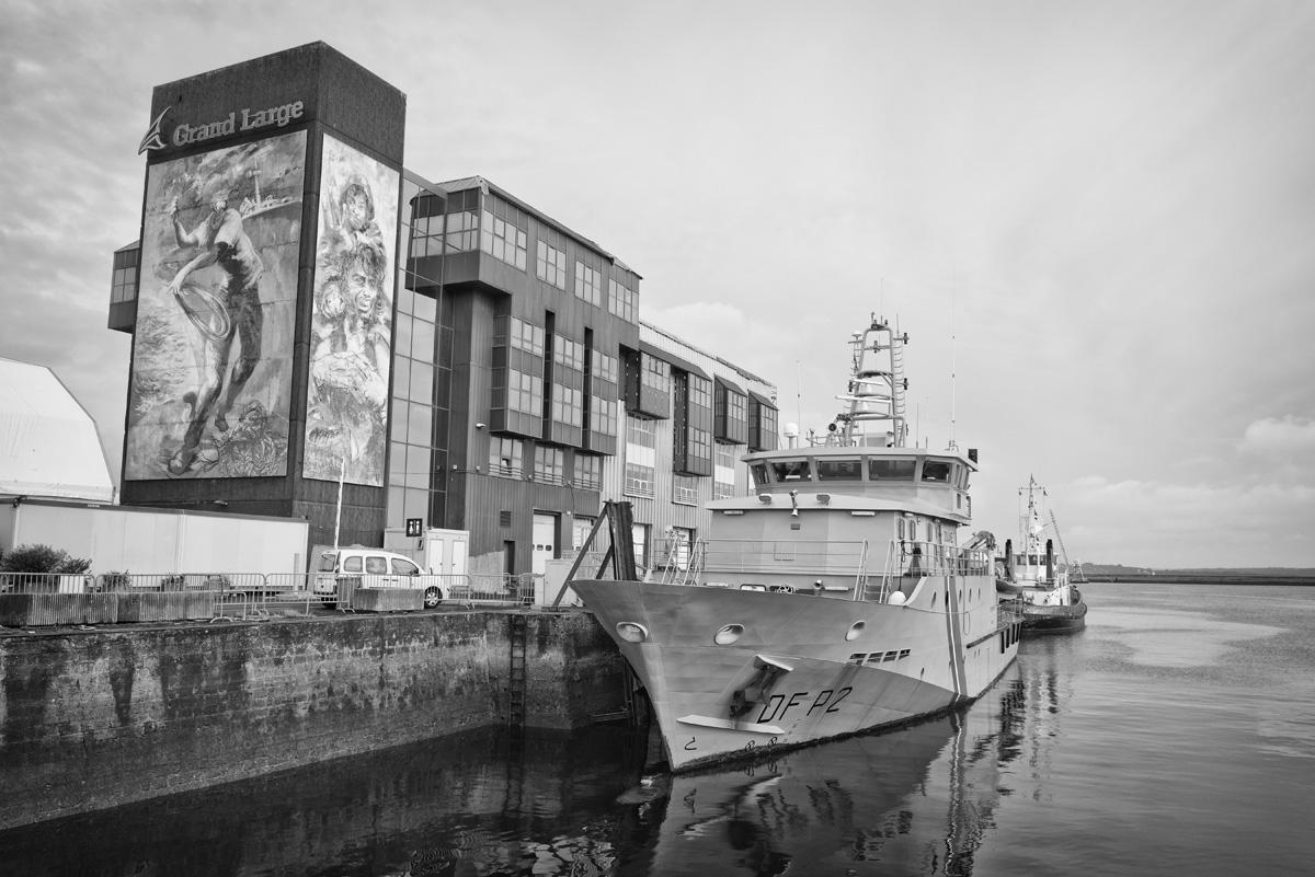Brest : le Kermorvan, navire de la gendarmerie maritime