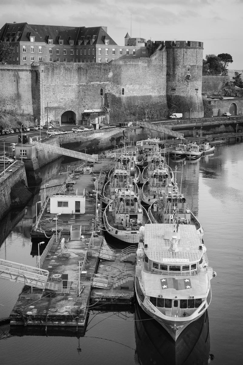 Brest : port et château