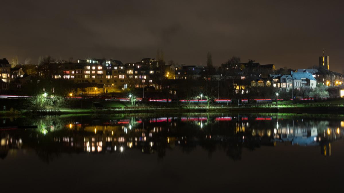 Louvain-la-neuve : vue sur le quartier du Blocry